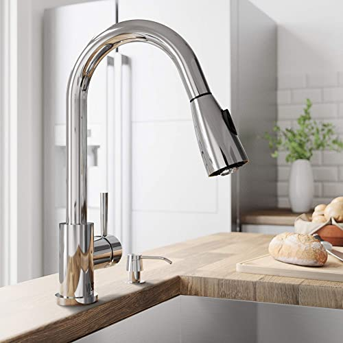 VIGO VG02005CH Weston 16 Inch Arc Brass Kitchen Sink Faucet