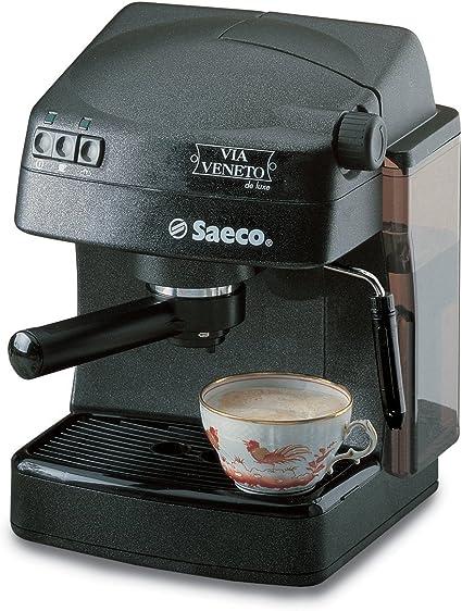 Saeco - Cafetera Espresso Venetoneroluxe, Manual, 15 Bares, Deposito Agua 1,5L, Tubo De Vapor Plastico. Negro.: Amazon.es: Hogar