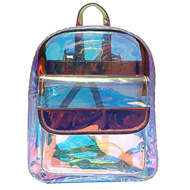 d860cc3a3d Kennedy Transparent Laser Holographic Backpack Fashion Clear Candy Color  Daypack Travel Backpack Satchel Backpack School Bag