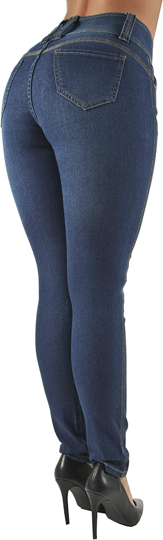 Plus//Junior Colombian Design Mid Waist Butt Lift Levanta Cola Skinny Jeans