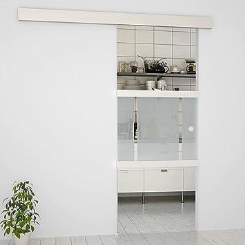 Puerta Corredera de Cristal Juego completo | Sistema de puerta corredera | Oficina Puerta satinadas.: Amazon.es: Bricolaje y herramientas
