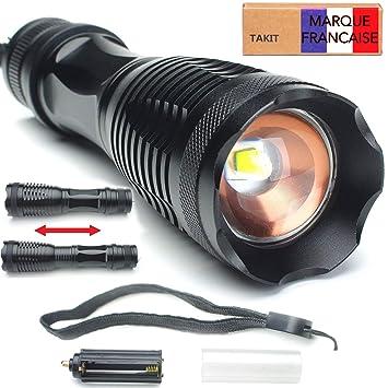 Takit Lampe Torche Led Puissante Cree Xml L2 1200 Lumens Lampe