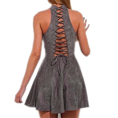 Backless Lace Up New Summer Casual A-Line Dresses Robe Off Shoulder Party Sarafan Vestidos Largos Mujer