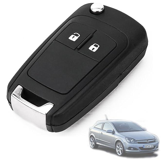 Carcasa 2 Botones de mando Recambio Llave de Coche para Vauxhall Astra Insignia