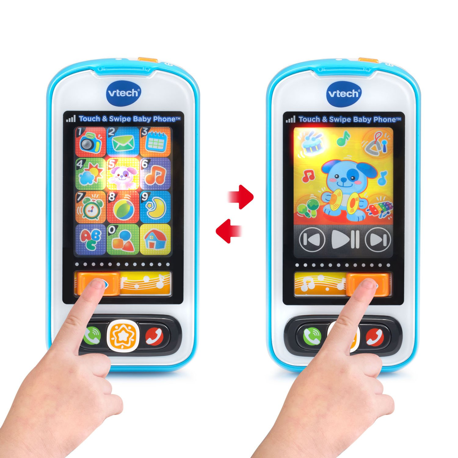 VTech Touch and Swipe Baby Phone, Blue by VTech (Image #3)