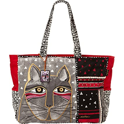 6e08d5d0e5 Amazon.com: Laurel Burch Whiskered Cats Oversized Tote: Arts, Crafts ...