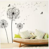 Vovotrade Diy Home Decor New Design Grand Noir Pissenlit Autocollant Mural Art Stickers PVC Décoration murale