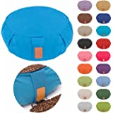 "#DoYourYoga Yoga Cushion/Pillow »Brahman« with Zipper and Organic Buckwheat Husk (USA - Farmproduct) - Cover 100% Cotton & Size 16.54"" x5.9"" – Ideal for Relaxation, Meditation & Recreation"