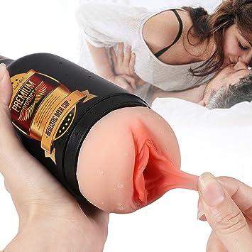 Man using sex toys on self