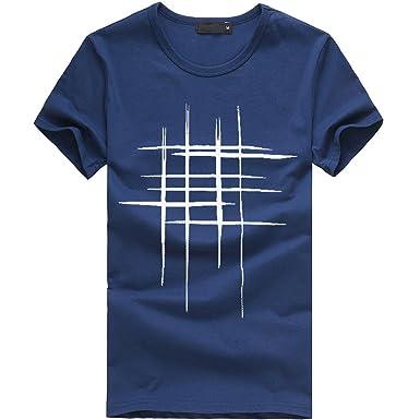 Hombres Que Imprimen Las Camisetas Camisa de Manga Corta ...