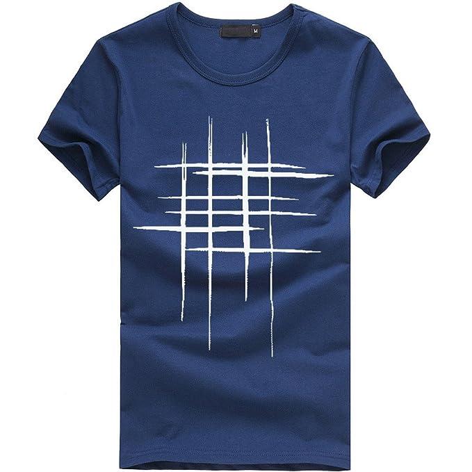 Hombres Que Imprimen Las Camisetas Camisa de Manga Corta Camiseta de algodón Casuales Blusa por Internet