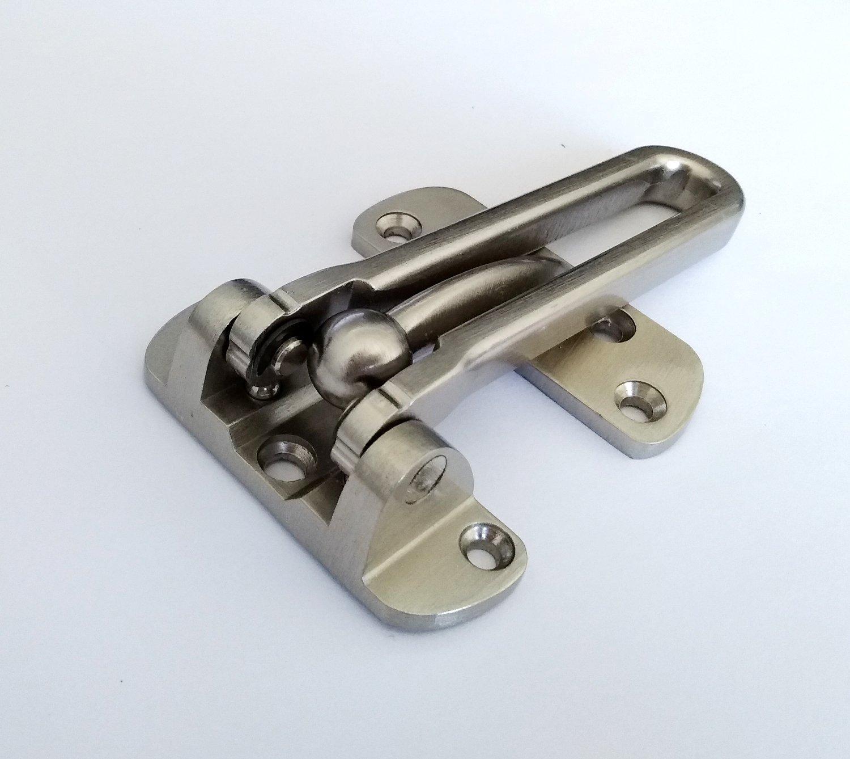 TOGU TG-SDG001-SN Solid Thicken Security Door Guard,Gate Latches Swing Bar Door Guard,Burglar-Proof Padlock Door Clasp for Home,Apartment,Hotel,Motel,Dormitory,Satin Nickel