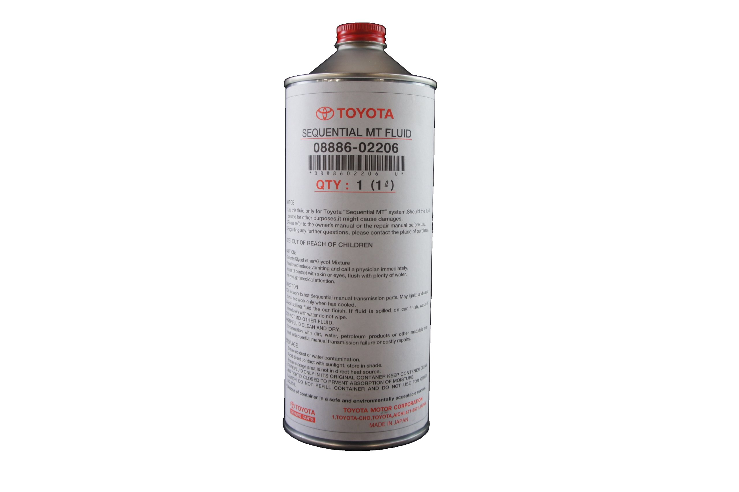 Toyota Genuine Fluid 08886-02206 Sequential Manual Transmission Fluid - 1 Liter