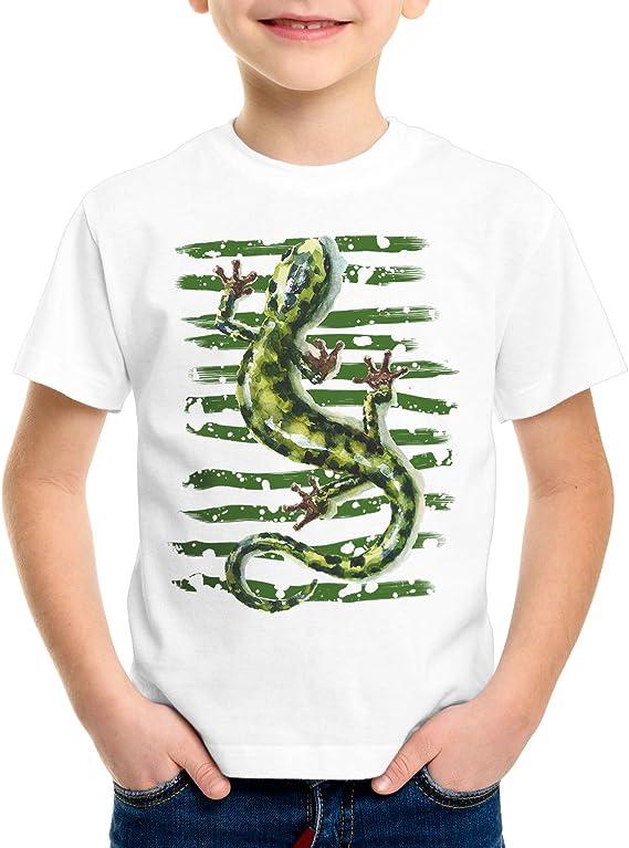 style3 Salamandra Camiseta para Niños T-Shirt Lagarto Reptil mar mediterráneo