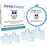 Stop Snoring Nose Vents by Deep Sleeps - Nasal Dilators - Breathe Easier - Best Snoring Aids - Snore Stopper - Snoring Device - Best Snoring Solution