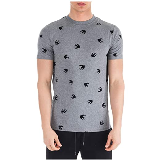 64cbd0d466c6 Amazon.com  McQ Alexander McQueen Men t-Shirt Mini Swallow Stone ...