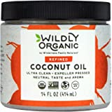 Wildly Organic Coconut Oil Refined (No Coconut Flavor or Scent, Expeller Pressed), Non-GMO, - 14 FL OZ