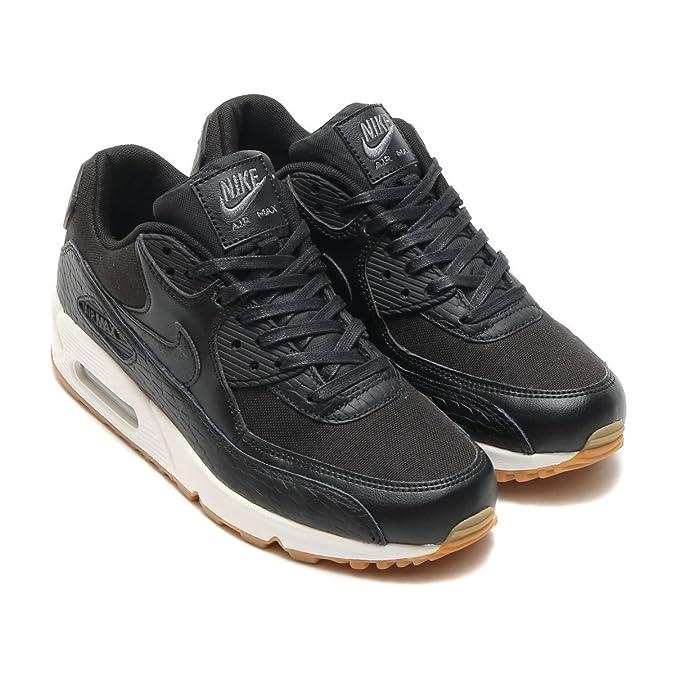 lowest price 52f13 3c734 Nike Donna, Wmns Air Max 90 Prm Lea, Pelle/Mesh, Sneakers, Nero, 36.5 EU:  Amazon.it: Scarpe e borse