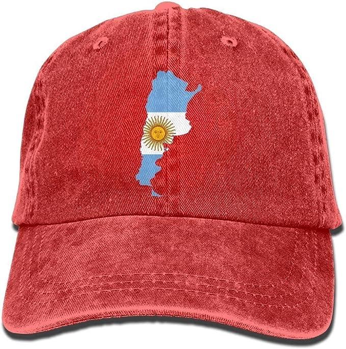 itruty Flag Map of Argentina Snapback Cotton Gorra: Amazon.es ...