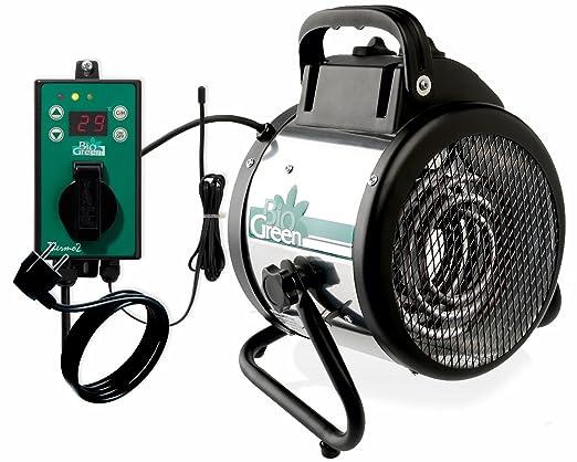 3 opinioni per Riscaldatore elettrico a ventola Bio Green Palma , argento/ nero, 2000W