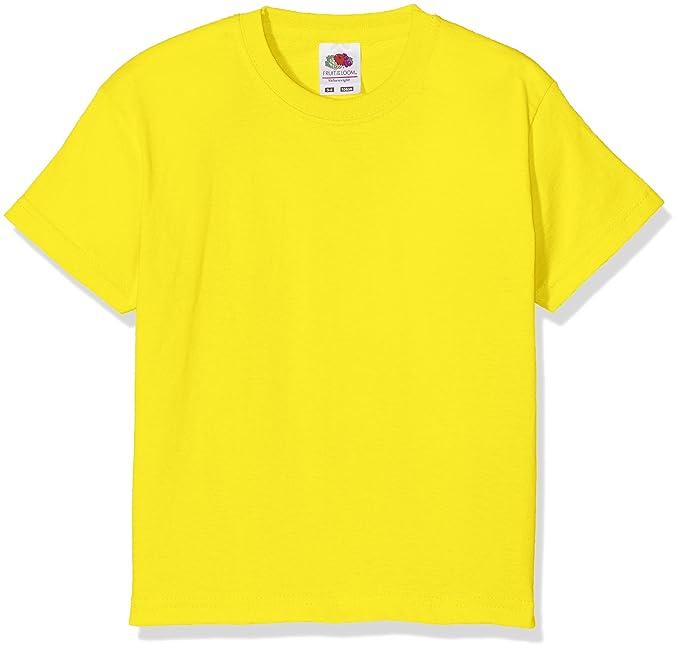 9b131fb1c3 Fruit of the Loom T-Shirt Bambino, Giallo (Sunflower), 12-13 Anni ...