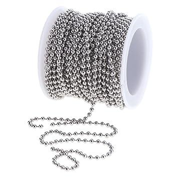1 Rolle 6 Meter Edelstahl Kabel Kette Halskette aus Stahl für Männer
