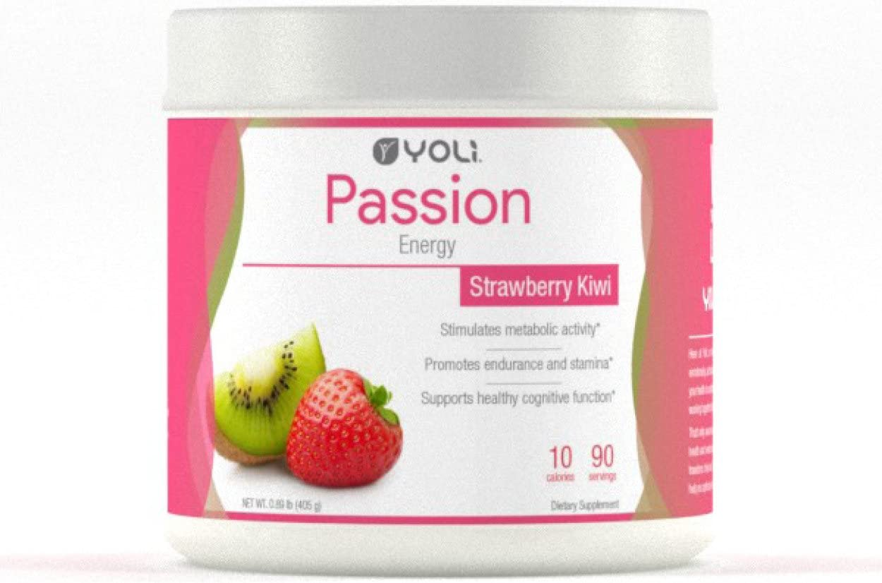 Yoli Passion Energy Drink – Sugar Free – Sweetwened with Stevia – Long Lasting Healthy Energy Without Jitters Canister, Kiwi Strawberry