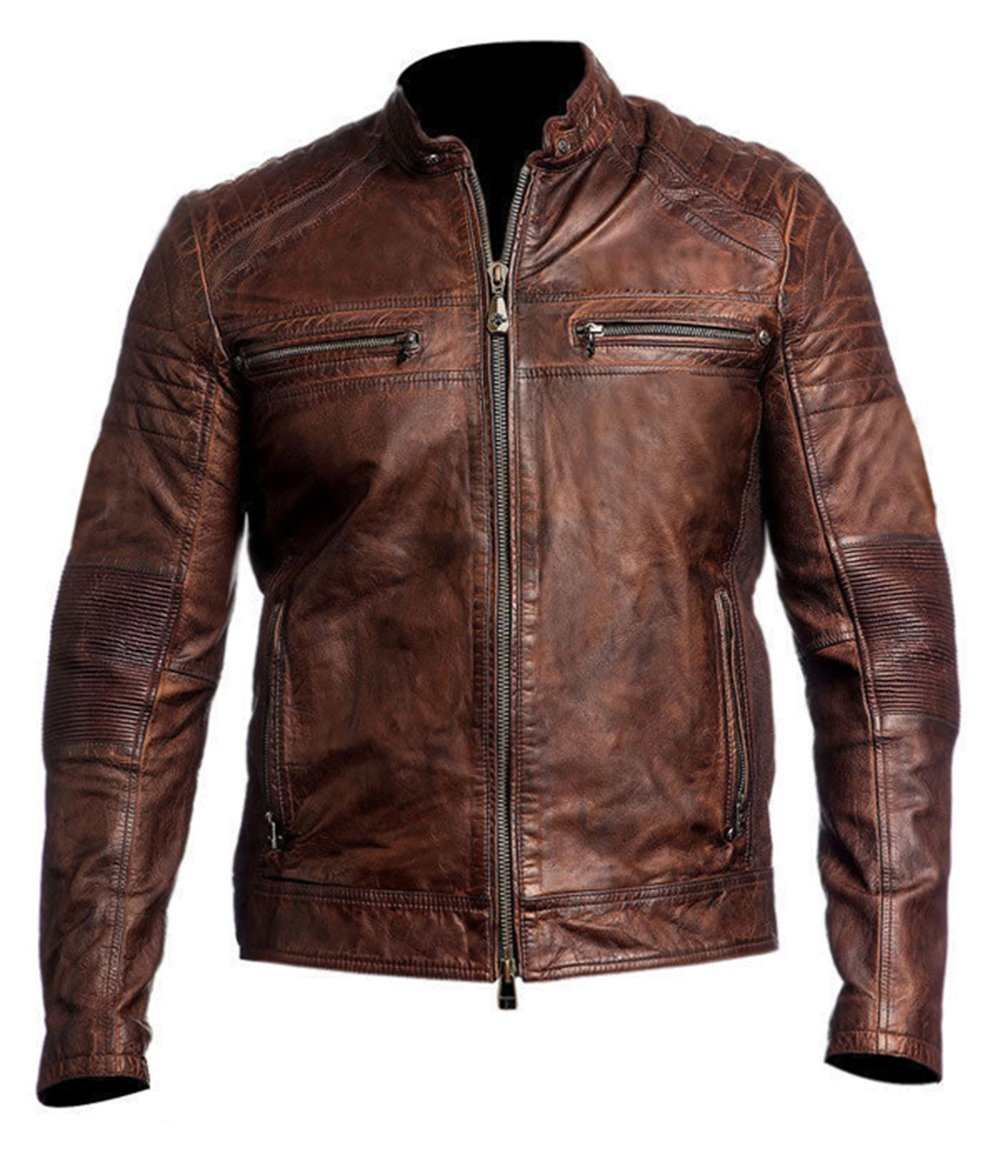 "Leather Marvel OUTERWEAR メンズ B07CC4GQ2W XX-Large/Body Chest 46"" to 48""