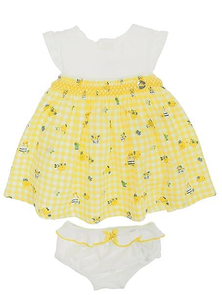 Mayoral 28-01858-059 - Vestido para bebé niña 12 Meses Limonada