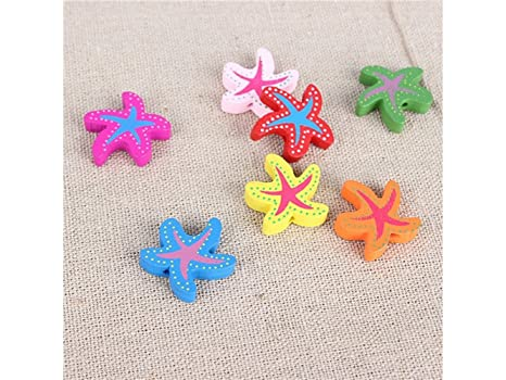 Pequeños ornamentos lindos Diez PC Starfish Micro Landscape DIY Bonsai Garden Acuario Decor (Color aleatorio