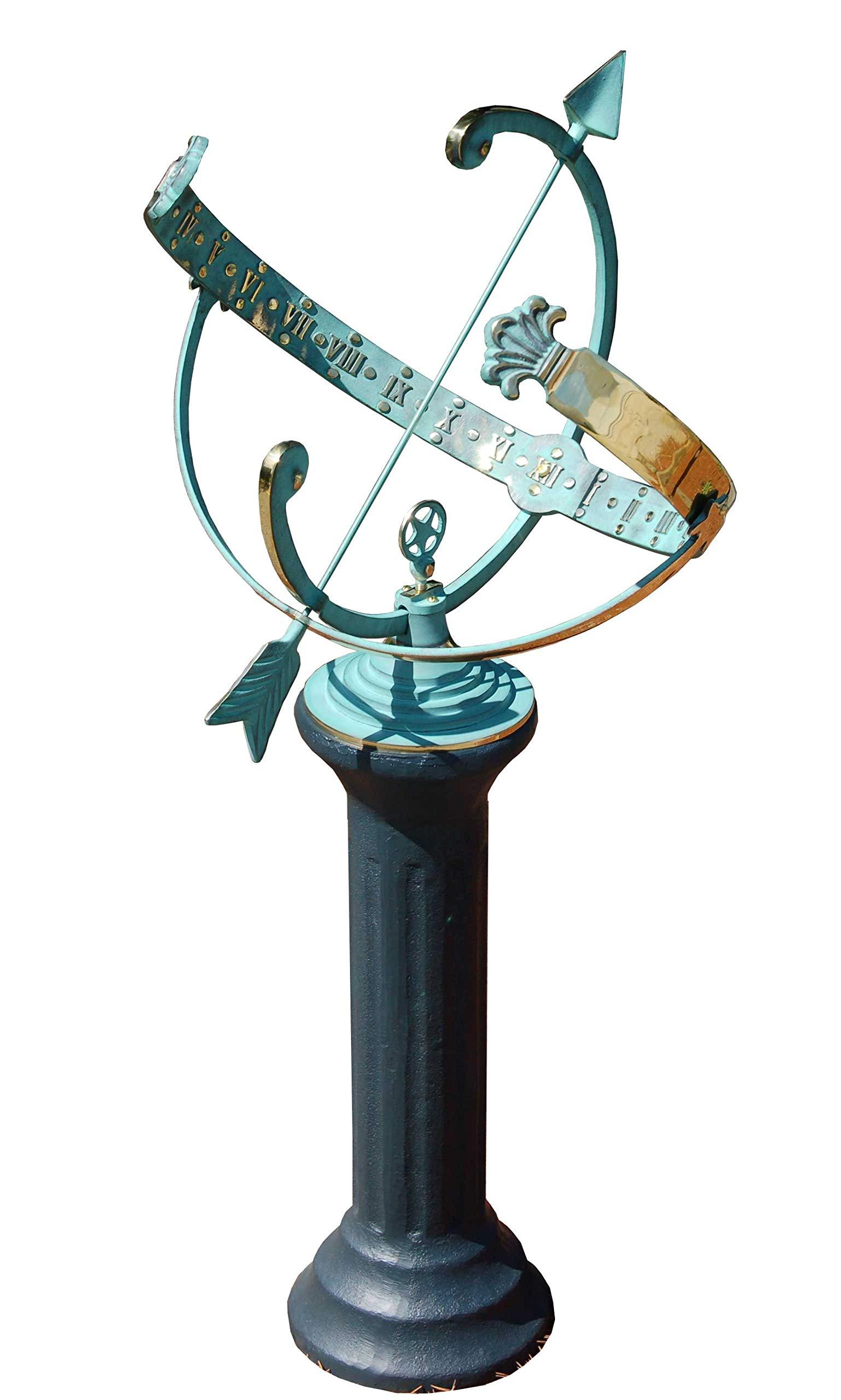 BestNest Rome Star Armillary Sundial and Roman Pedestal by BestNest