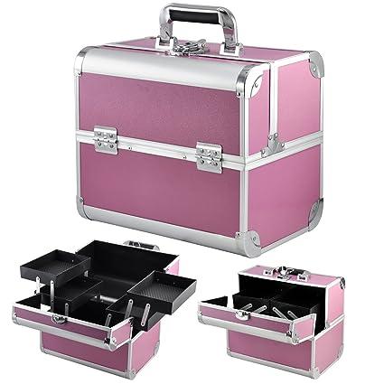 a0c296d77 Popamazing – Maletín de maquillaje profesional, neceser para cosméticos,  esmaltes de uñas o joyas