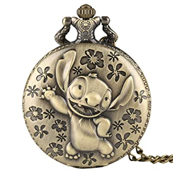 Watches Reloj De Bolsillo Retron 3d Monkey Design Bronze Quartz Fob Pocket Watch With Necklace Chain For Men Women Best Gift