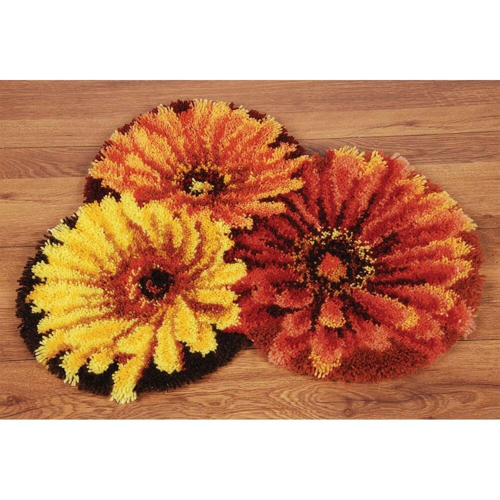 Vervaco Flowers Latch Hook Kit
