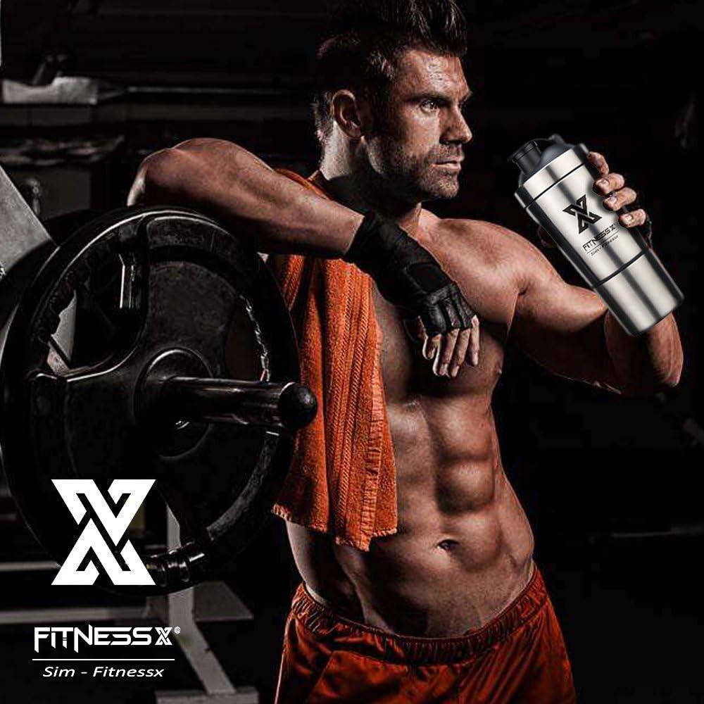 PLC020 Sport Fitness Coctelera Proteínas Capacidad 700 ml (700ml+ ...