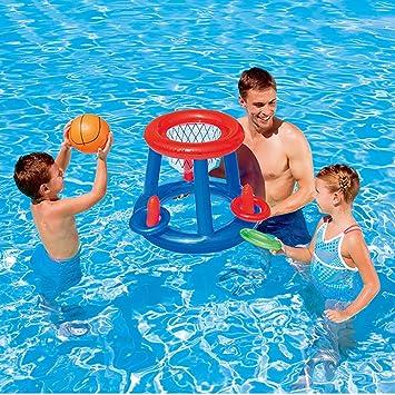 LOY Divertido Titular de Baloncesto Hinchable - Piscina para Padres e Hijos - Juguetes inflables para Piscinas con Baloncesto Inflable para Deportes acuáticos: Amazon.es: Deportes y aire libre