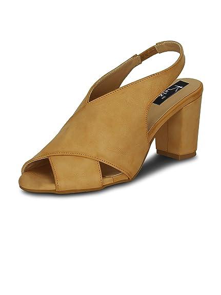 3f06448c1c87ca Kielz Beige Block Heel Back Strap Women s Sandals  Buy Online at Low Prices  in India - Amazon.in
