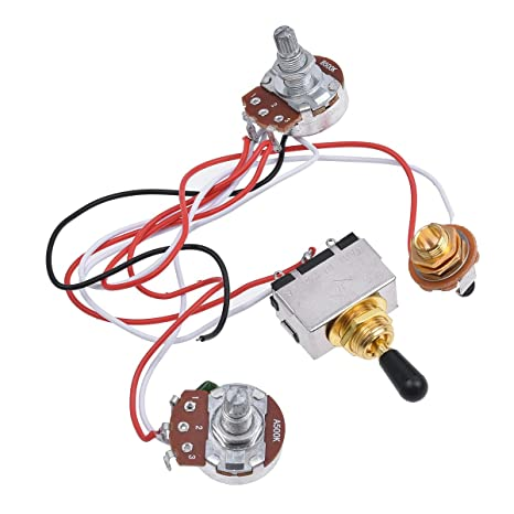 71kuTeK 0gL._SX466_ kmise prewired wiring harness kit 3 way toggle switch 500k pots EZ Wiring Harness Diagram Chevy at bayanpartner.co