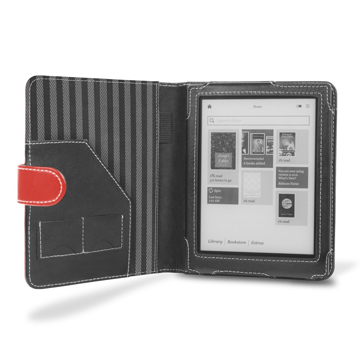 Cover-Up M6-LZ33-1SQA - Carcasa para ebook Kobo Aura, rojo: Amazon ...