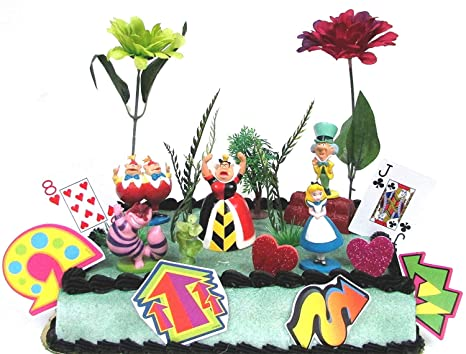 Amazon Disney Alice In Wonderland Birthday Cake Topper Set