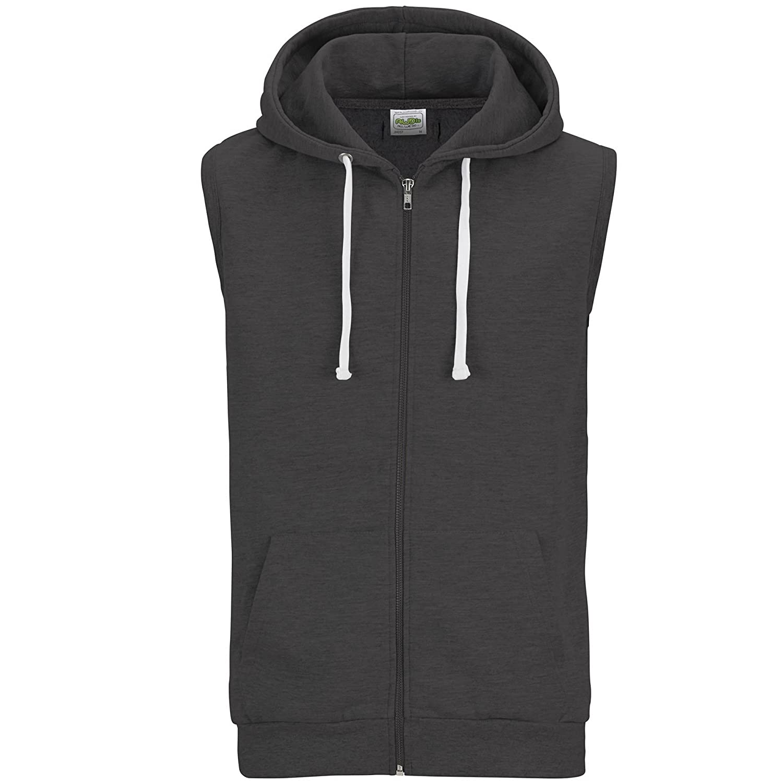 AWDis Just Hoods Veste sans manches /à capuche et fermeture zipp/ée Homme