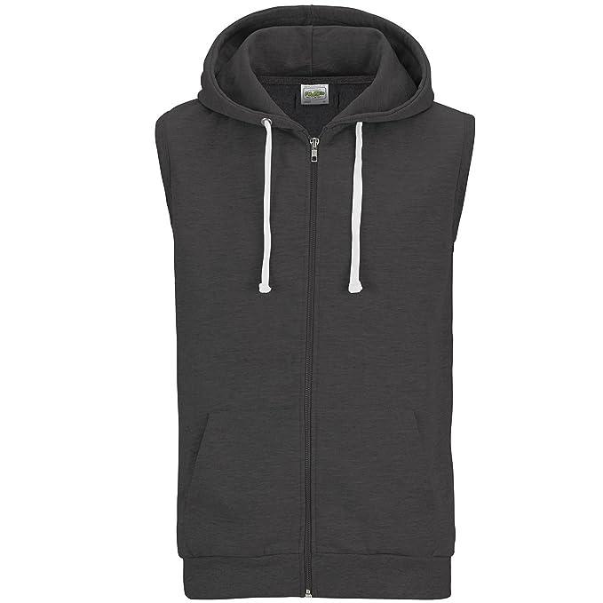 AWDis Just Hoods - Sudadera / chaqueta con capucha sin mangas Modelo Sleeveless hombre caballero: Amazon.es: Ropa y accesorios