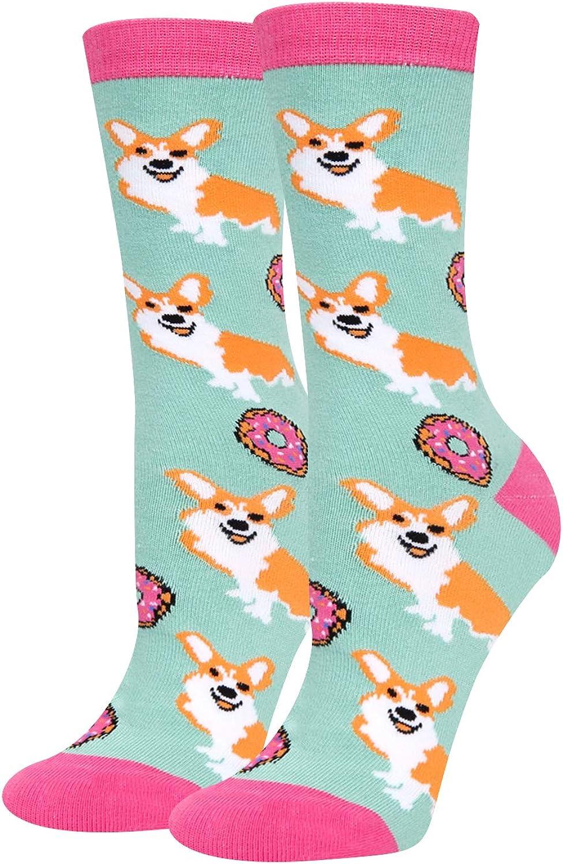 CHIC Funny Sock White Emoji Cartoon Animal Print For Woman Man Boy Girl Free Size