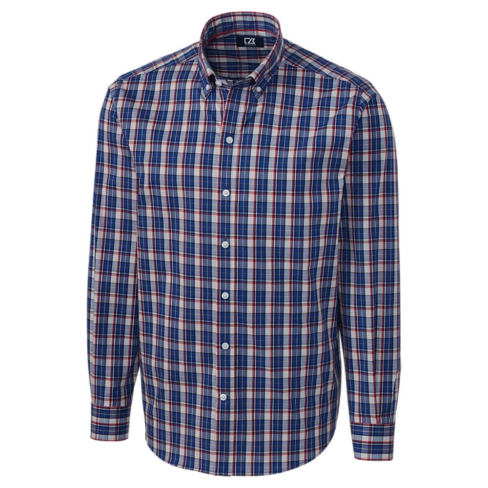Cutter & Buck SHIRT メンズ B07CZBK2KR X-Large / Tall|Caleb Plaid Aquatic Caleb Plaid Aquatic XLarge / Tall