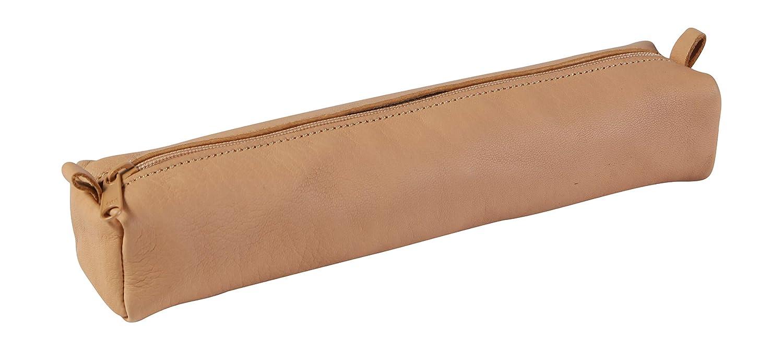 Clairefontaine 8321C Une trousse rectangulaire 21x4x6 cm en cuir Noir