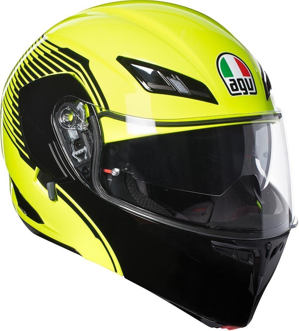 Casco modulare apribile Agv Compact St Vermont Giallo fluo nero yellow Black flip up helmet