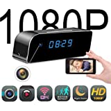 Mini Wireless Hidden Spy Camera Clock - Secret Nanny Cam, Best Digital Small Full HD 1080P with WiFi, Motion Detection & Night Vision, Camaras Espias Ocultas