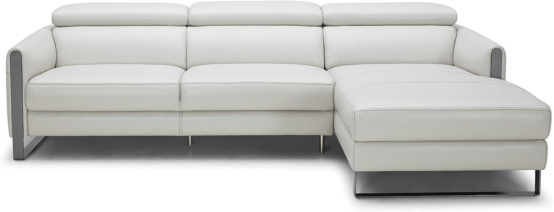 J and M Furniture Vella Premium Leather Sectional Sofa