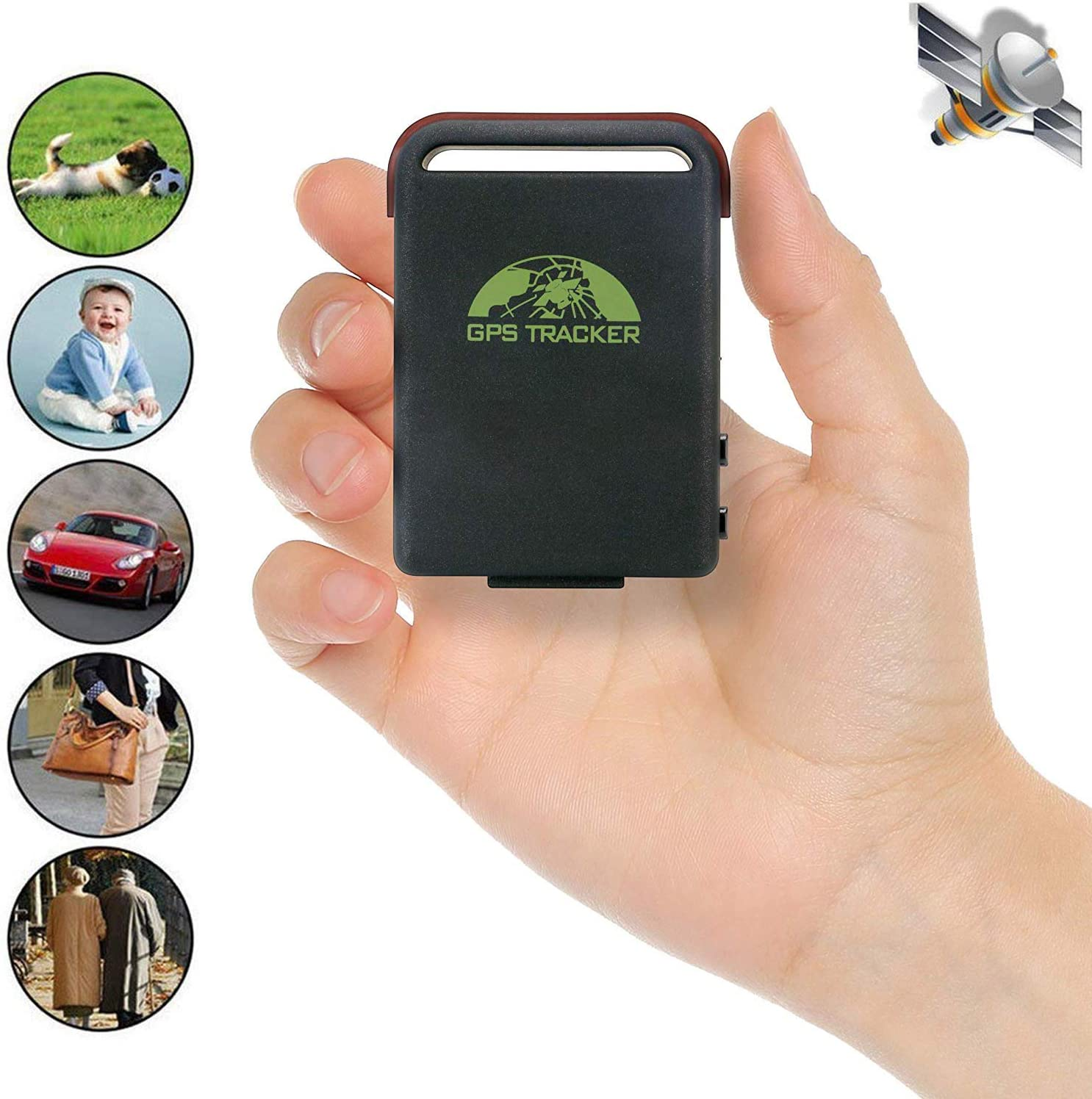 GPS Tracker Detector for Vehicles Cars Kids Dogs Keys People, Mini GPS Locator Tag Plotter Magnetic Tracer Long-Range Real-Time Tracking Device Outdoor Hiking for Truck Bike Motorcycles Pets Cat Child