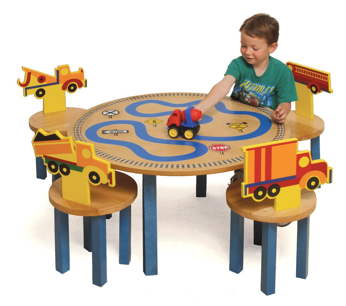 sc 1 st  Amazon.com & Amazon.com: Room Magic Table/4 Chairs Set Trucks: Baby